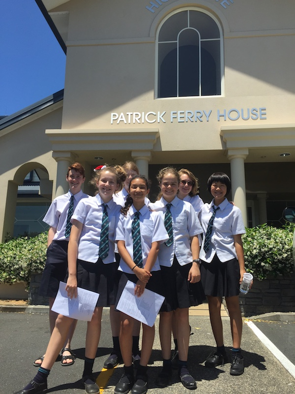 Middle School Christmas Carols at Patrick Ferry Aged Care home name