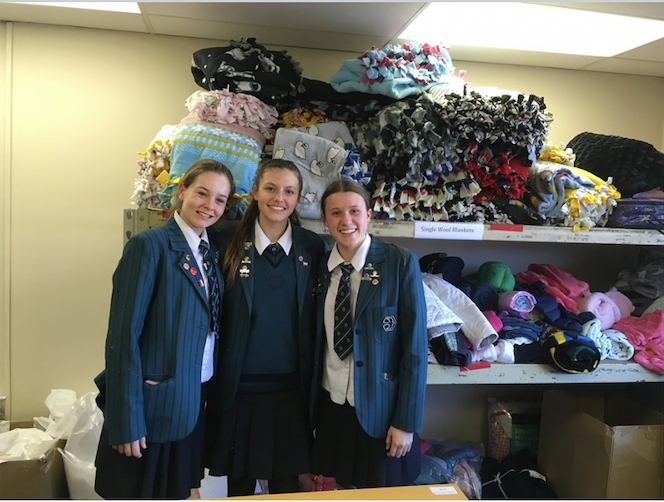 Yr 10 Com project blanket donations name